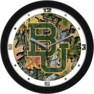Baylor Bears Camo Wall Clock