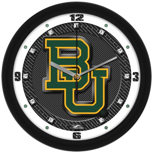 Baylor Bears Carbon Fiber Wall Clock