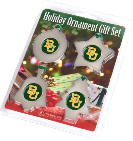 Baylor Bears Christmas Ornament Gift Set