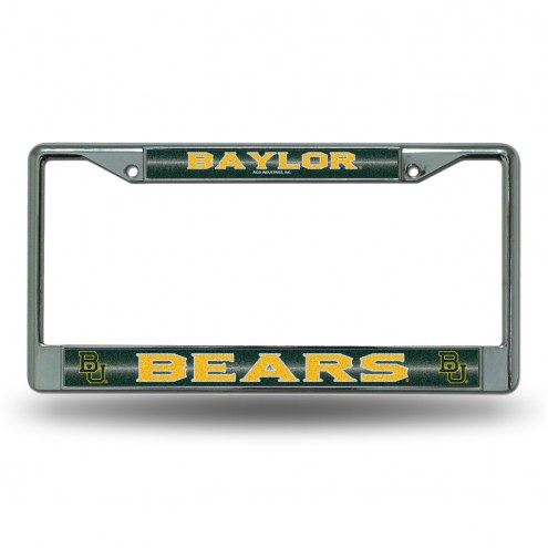 Baylor Bears Chrome Glitter License Plate Frame