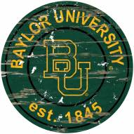 Baylor Bears Distressed Round Sign