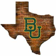 Baylor Bears Distressed State with Logo Sign