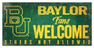 Baylor Bears Fans Welcome Sign