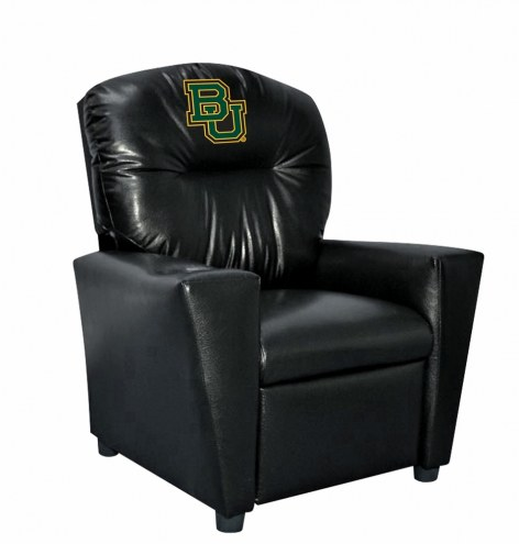 Baylor Bears Faux Leather Kid's Recliner