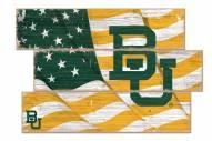 Baylor Bears Flag 3 Plank Sign