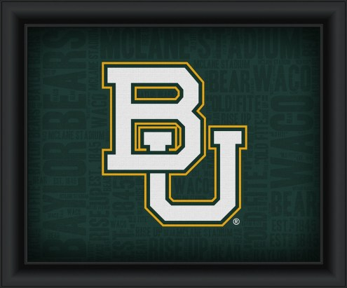 Baylor Bears Framed Word Cloud
