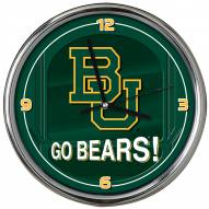 Baylor Bears Go Team Chrome Clock