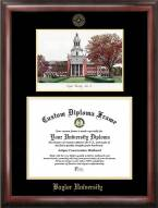 Baylor Bears Gold Embossed Diploma Frame with Campus Images Lithograph
