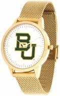 Baylor Bears Gold Mesh Statement Watch