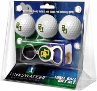 Baylor Bears Golf Ball Gift Pack with Key Chain