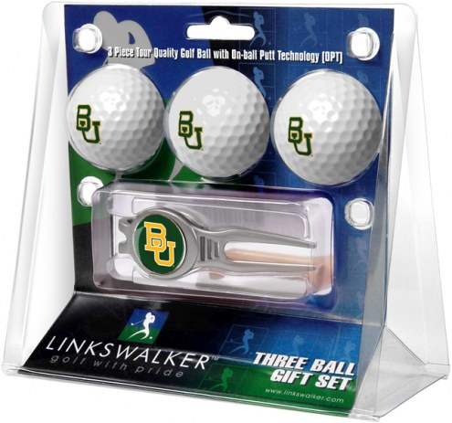 Baylor Bears Golf Ball Gift Pack with Kool Tool