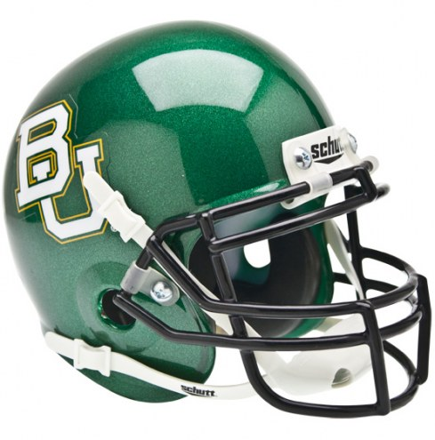 Baylor Bears Green Schutt Mini Football Helmet