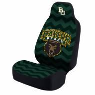 Baylor Bears Green Zig Zag Universal Bucket Car Seat Cover
