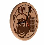 Baylor Bears Laser Engraved Wood Clock