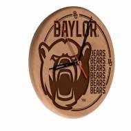 Baylor Bears Laser Engraved Wood Clock