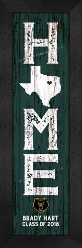 Baylor Bears Home Away From Home Personalized Wall Decor