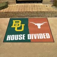 Baylor Bears/Texas Longhorns House Divided Mat