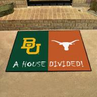 Baylor Bears/Texas Longhorns House Divided Mat