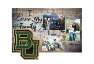 Baylor Bears I Love My Family Clip Frame