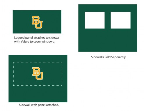 Baylor Bears Logo Canopy Sidewall Panel (Attaches to Window Sidewall)