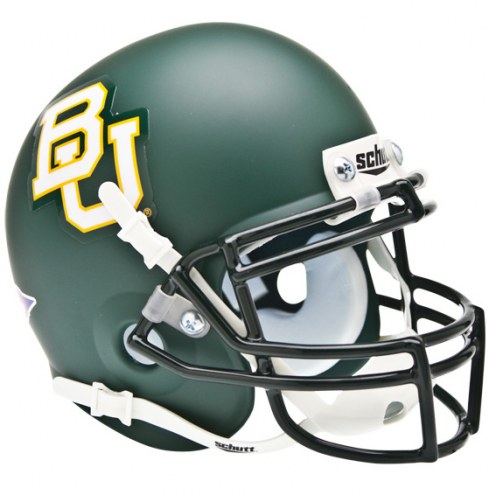 Baylor Bears Matte Green Schutt Mini Football Helmet