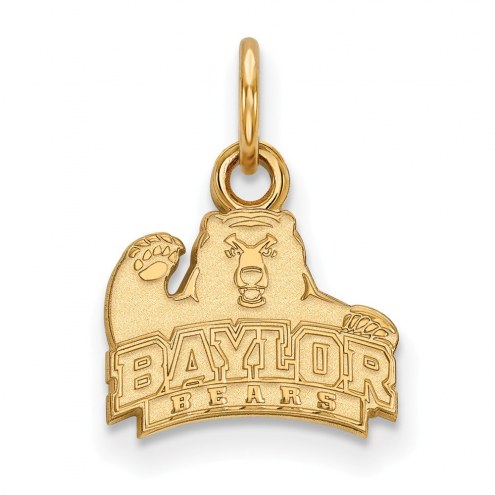 Baylor Bears NCAA Sterling Silver Gold Plated Extra Small Pendant