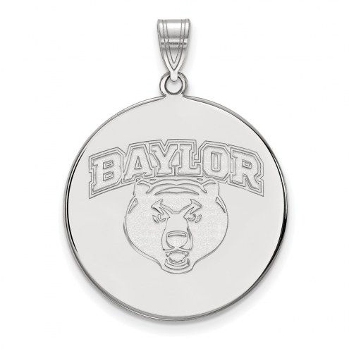 Baylor Bears NCAA Sterling Silver Extra Large Disc Pendant