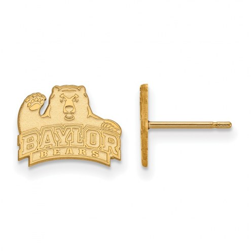 Baylor Bears NCAA Sterling Silver Gold Plated Extra Small Post Earrings