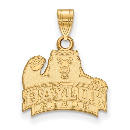 Baylor Bears NCAA Sterling Silver Gold Plated Small Pendant