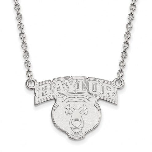 Baylor Bears NCAA Sterling Silver Large Pendant Necklace