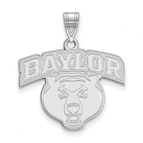 Baylor Bears NCAA Sterling Silver Large Pendant