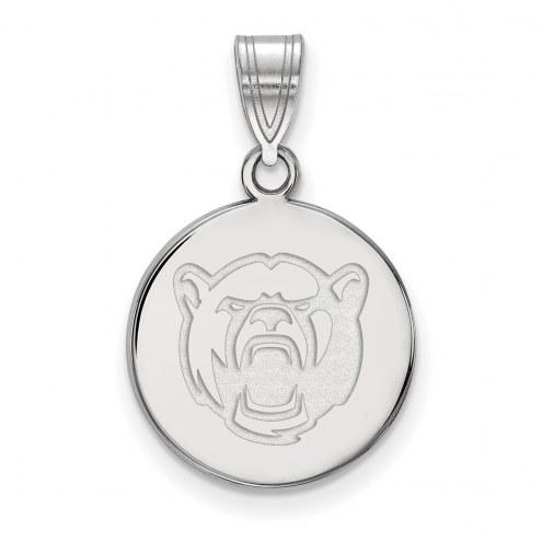 Baylor Bears NCAA Sterling Silver Medium Disc Pendant