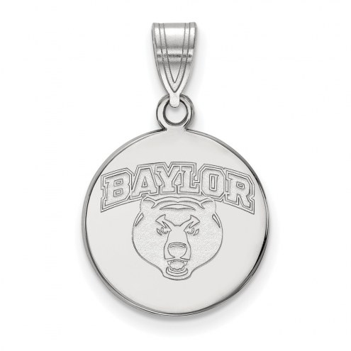 Baylor Bears NCAA Sterling Silver Medium Disc Pendant