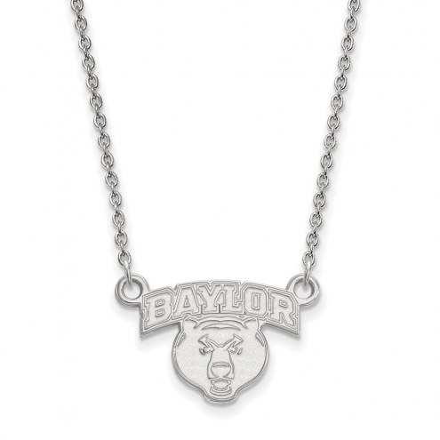 Baylor Bears NCAA Sterling Silver Small Pendant Necklace
