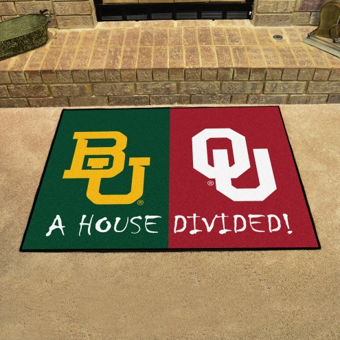 Baylor Bears/Oklahoma Sooners House Divided Mat