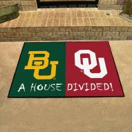 Baylor Bears/Oklahoma Sooners House Divided Mat