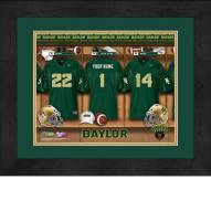 Baylor Bears Personalized Locker Room 13 x 16 Framed Photograph