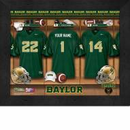 Baylor Bears Personalized Locker Room 11 x 14 Framed Photograph