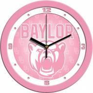 Baylor Bears Pink Wall Clock