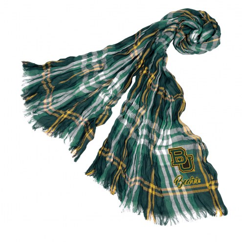 Baylor Bears Plaid Crinkle Scarf