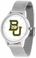 Baylor Bears Silver Mesh Statement Watch