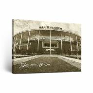Baylor Bears Sketch Canvas Wall Art