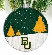 Baylor Bears Snow Scene Ornament