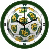 Baylor Bears Soccer Wall Clock