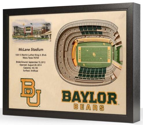 Baylor Bears 25-Layer StadiumViews 3D Wall Art