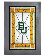 Baylor Bears Stained Glass with Frame