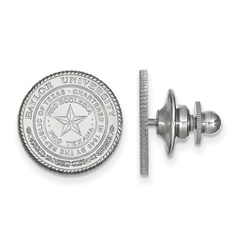 Baylor Bears Sterling Silver Crest Lapel Pin