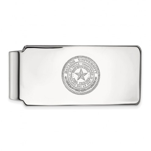 Baylor Bears Sterling Silver Crest Money Clip