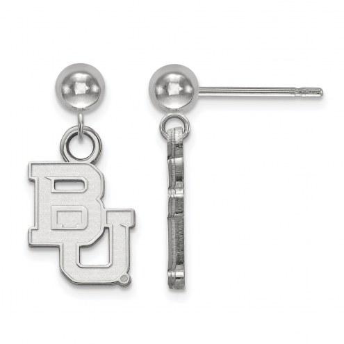 Baylor Bears Sterling Silver Dangle Ball Earrings