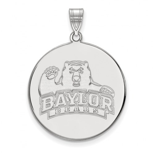 Baylor Bears Sterling Silver Extra Large Disc Pendant
